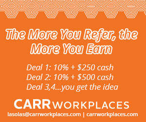 Carr Workplaces-The More You Refer Orange 032320
