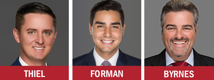 Berger Commercial Realty's Jonathan Thiel, John Forman and Joseph Byrnes